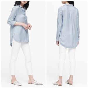 BANANA REPUBLIC Parker Chambray Tunic Button Down